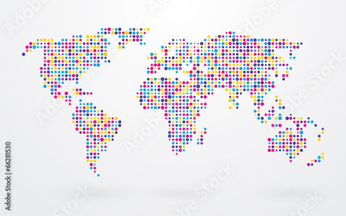 World map made up of small colorful dots stock image and royalty world map made up of small colorful dots gumiabroncs