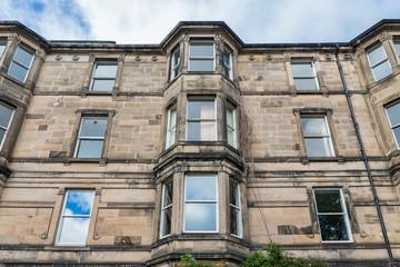 Vintage facades in Edinburgh