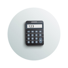 Detailed modern calculator business concept