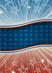 Abstract american patriotic background with banner