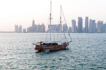 Skyline of Doha, west bay, FIFA 2022, Doha, Qatar