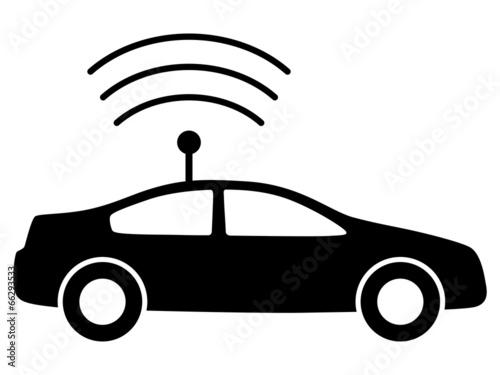 Schwarzes Icon für autonomes Fahren – Vektor/freigestellt\