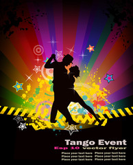 Flyer for Tango,Latino, Party and Exhibition