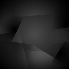 Abstract black shapes background