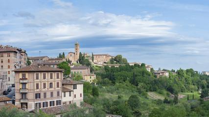 Fototapete - Panorama of Siena, Tuscany, Italy