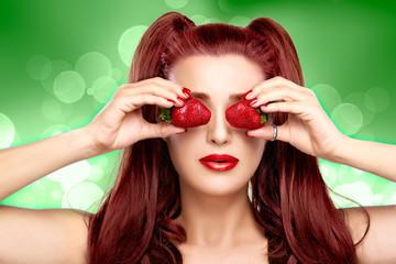 Strawberry Glasses