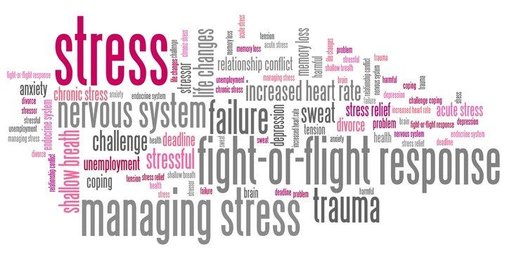 Stress - word cloud illustration