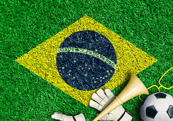 Poster - Brazil, the world football championship, festival and a carnival