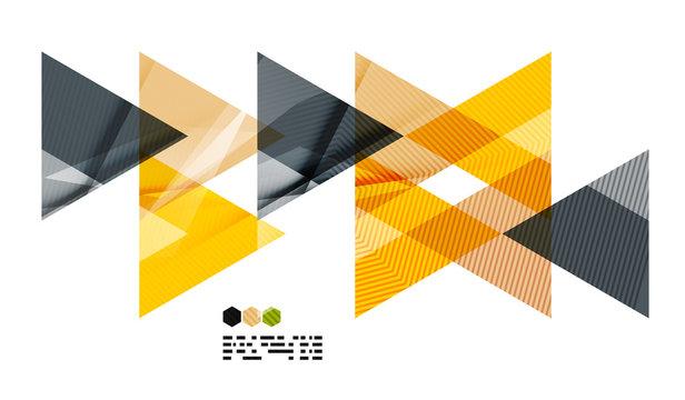 Bright yellow geometric modern design template