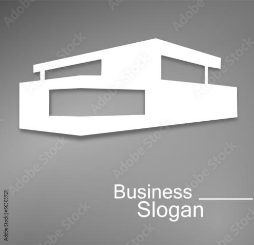 Logo maison d 39 architecte design fichier vectoriel libre de dr - Maison d architecte design ...