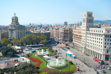 Autocollant pour porte Barcelona Catalonia Square