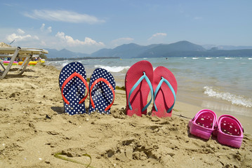 beach sea - sandals - tourism