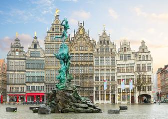 Foto op Textielframe Antwerpen Grote Markt square, Antwerpen