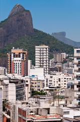 Rio de Janeiro Leblon District Skyline and Beautiful Mountains