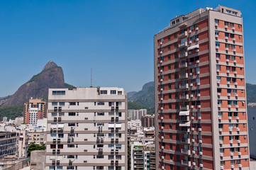 Apartment Buildings in Leblon with Mountains in Horizon