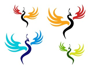 logo bird,phoenix symbol,wings luxury style icon
