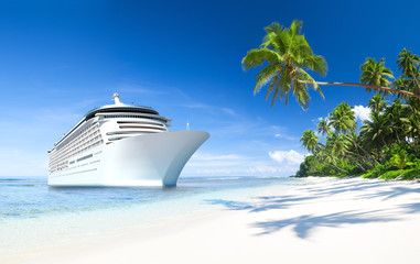 Cruise ship with Palm Tree