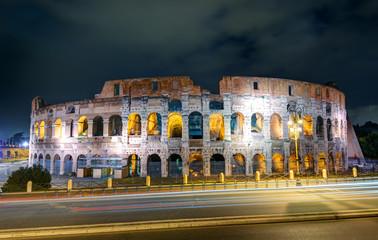 Colosseum (Coliseum) at night, Rome