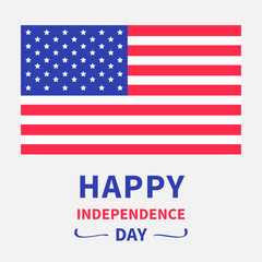 Happy independence day. 4th of July. White