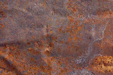 Old rusted metal surface texture