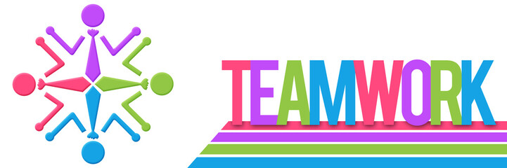 Teamwork Circular Human Colorful