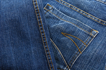 Pocket blue jeans