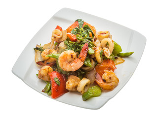 Seafood with vegetables