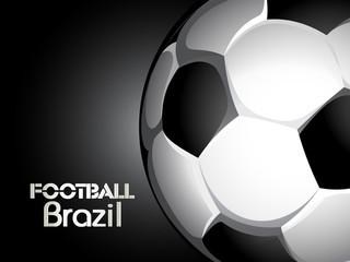 Creative Illustration football in Brazil flag concept - vector b