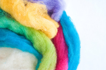 colored wool
