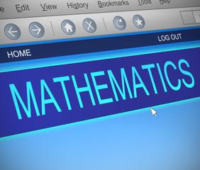 Mathematics concept.