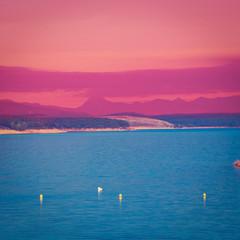 Spoed Fotobehang Roze Lake