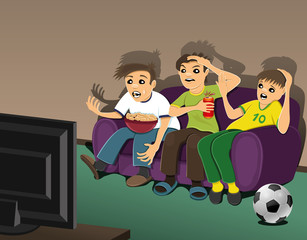 Football fans.