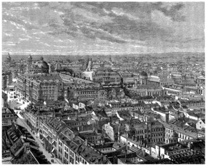 Panorama : Berlin - View : end 19th century