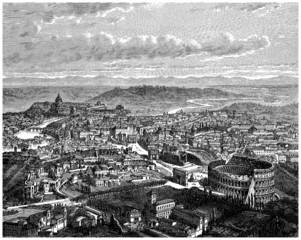 Panorama : Rome - View end 19th century
