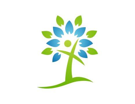 logo tree,abstract people,cross symbol,religious icon