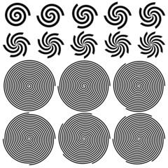 Spirals Pattern Set