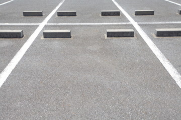 car Parking lane outdoor in public park