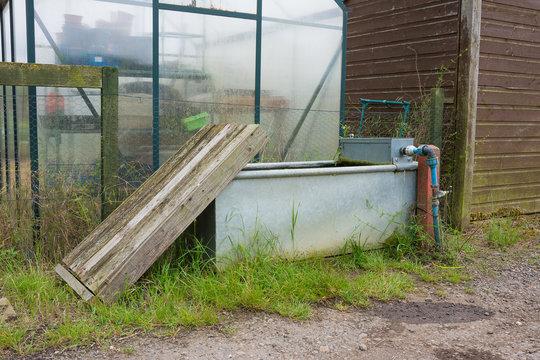 Outdoor garden water trough