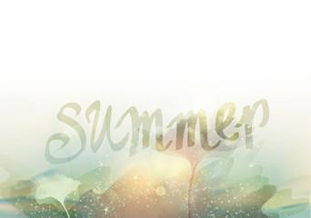 SUMMER / Season abstract background