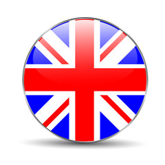 Great britain flag on button