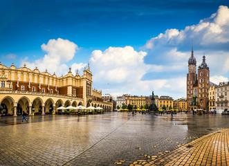 Autocollant pour porte Cracovie Krakow - Poland's historic center, a city with ancient