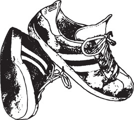 Running Shoes Vector Clipart Design Illustration