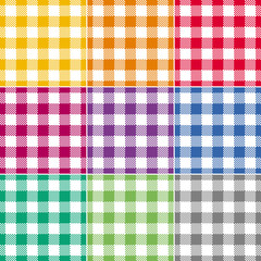 Checked Tablecloth Collection Endless, Seamless Pattern