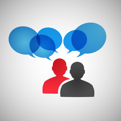 Vector speech dialog people eps