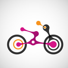 Vector abstract moto transport eps