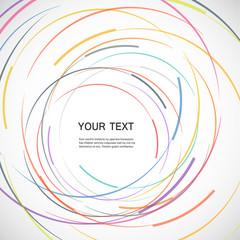 Vector color line twirl design