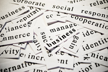 Business. Concept of words related with business