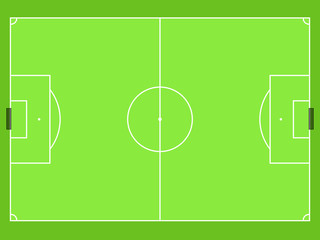 simply football field top view vector