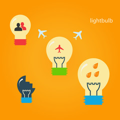 Set of creative light bulbs