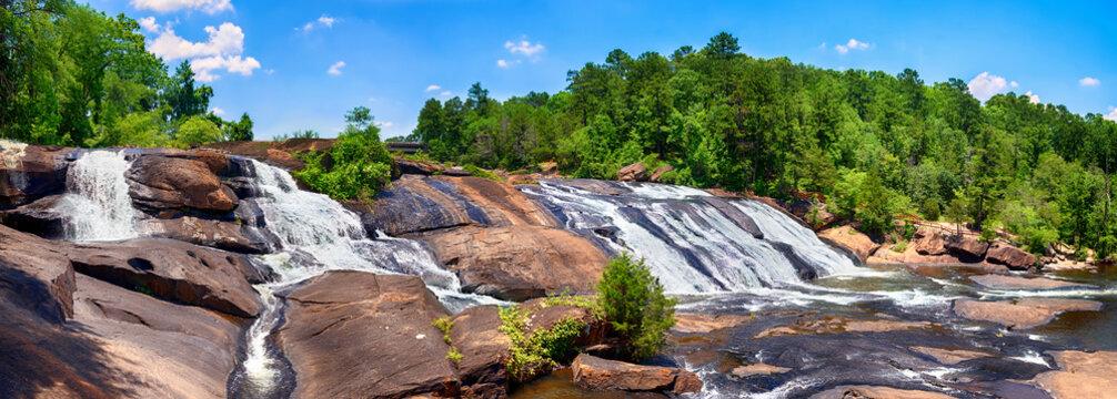 Rushing waterfalls at High Falls State Park in GA
